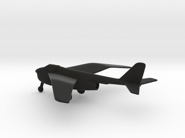 Heinkel He P.1078A in Black Natural Versatile Plastic: 1:144