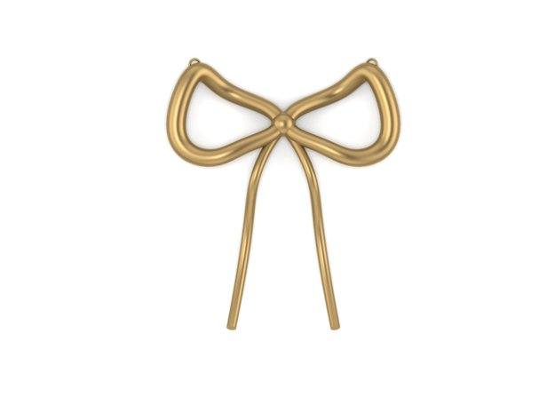 A Simple Bow By JiangYuan in 14K Gold
