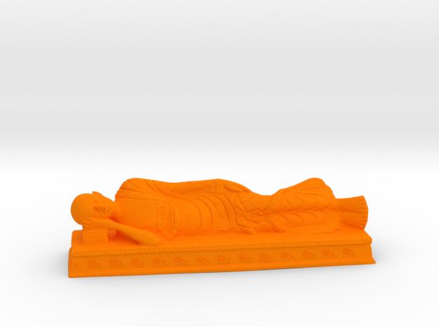 Sleeping Gandhi in Orange Processed Versatile Plastic: Medium