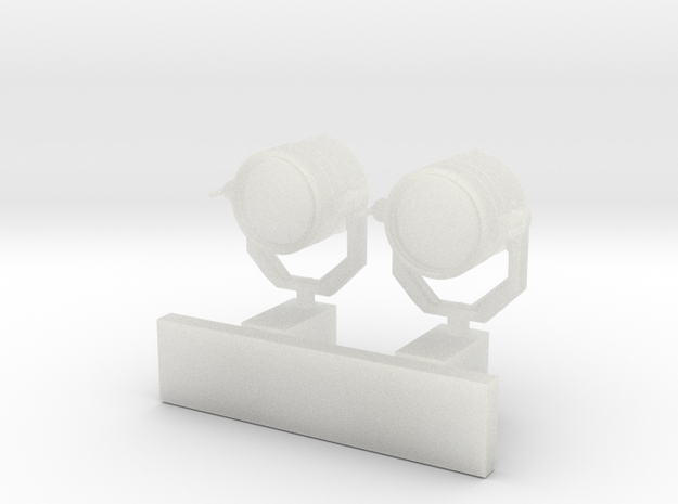 1:96 scale Search Light Wall Stand - set of 2 in Smooth Fine Detail Plastic