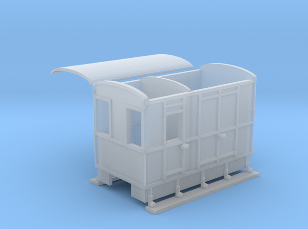 WHHR brake van NO.2 ex VoR  in Smooth Fine Detail Plastic