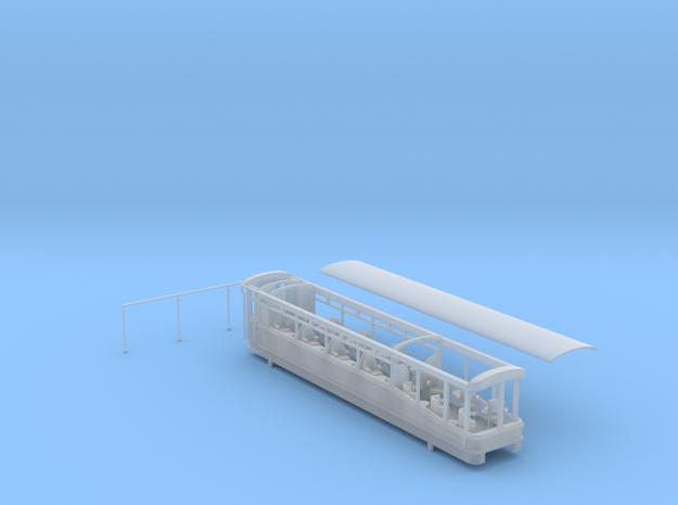 Ffestiniog Rly Superbarn observation coach NO.150  in Smooth Fine Detail Plastic