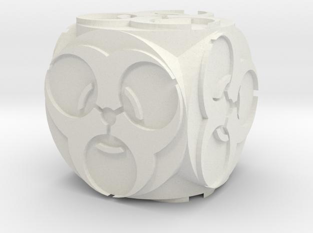 BioHazardCuboidFinished in White Natural Versatile Plastic: Medium