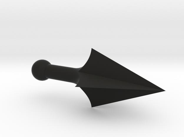 Spear4 in Black Natural Versatile Plastic: Medium