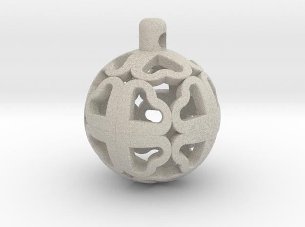 CloverBall pendant in Sandstone