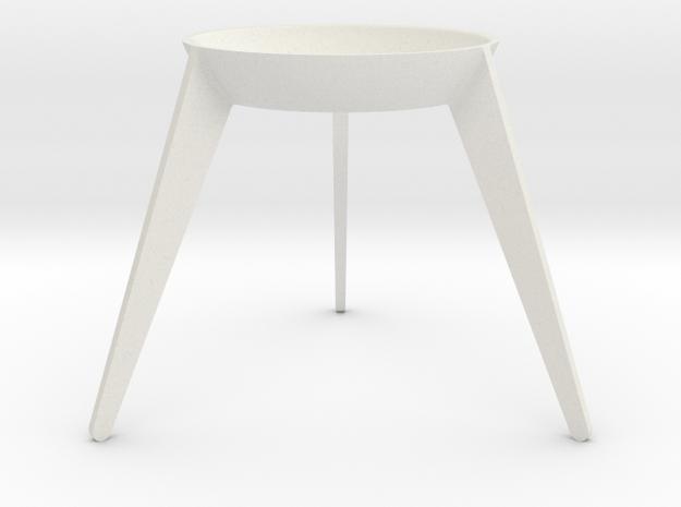 Sputnik - Avocado Seed Seat in White Natural Versatile Plastic