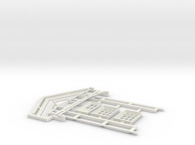7mm Gilmore Signal Box Detail Parts in White Natural Versatile Plastic