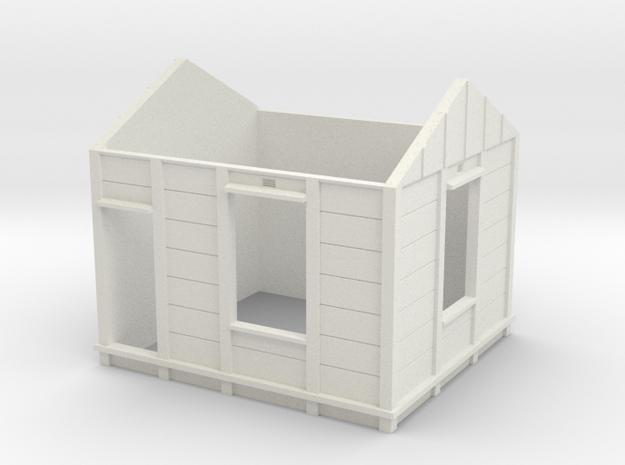 HO Gilmore PC Signal Box Walls in White Natural Versatile Plastic