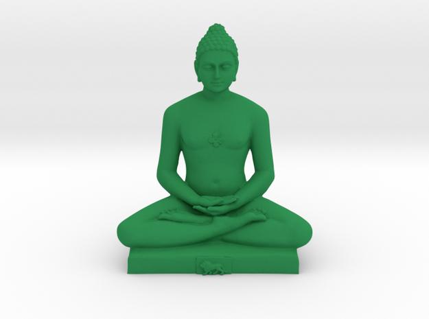 Bhagwan Mahaveer in Green Processed Versatile Plastic: Medium