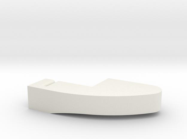 microswitch actuator for L85  trigger modification in White Natural Versatile Plastic