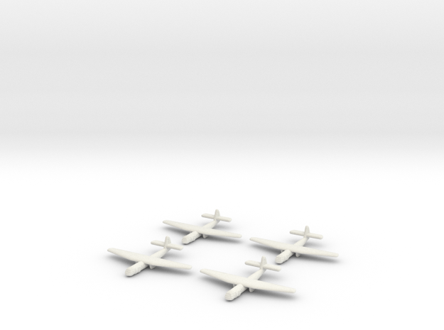 AS.51 Horsa Glider (United Kingdom) -GW39- (Qty. 4 in White Strong & Flexible