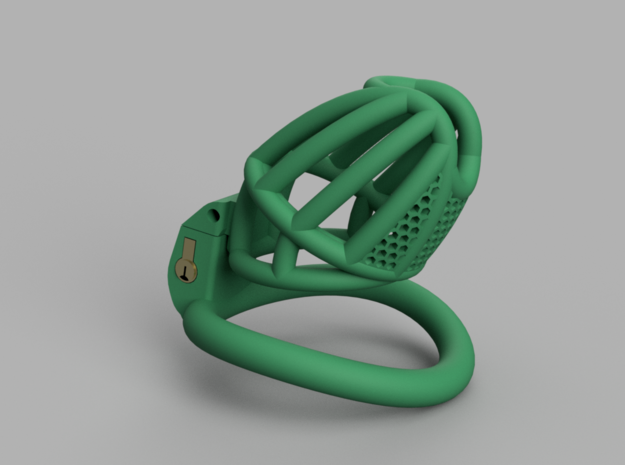 Cherry Keeper Standard with TouchStop in Green Processed Versatile Plastic: Small