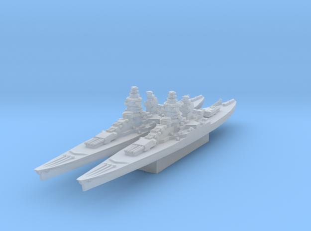Gascogne battleship 1/4800 in Smooth Fine Detail Plastic