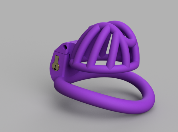 Cherry Keeper Cage - Short in Purple Processed Versatile Plastic