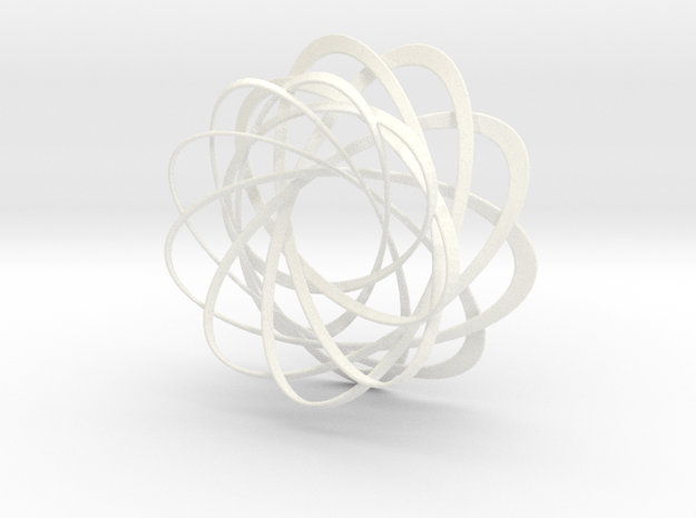 Mobius strips, intertwined in White Processed Versatile Plastic