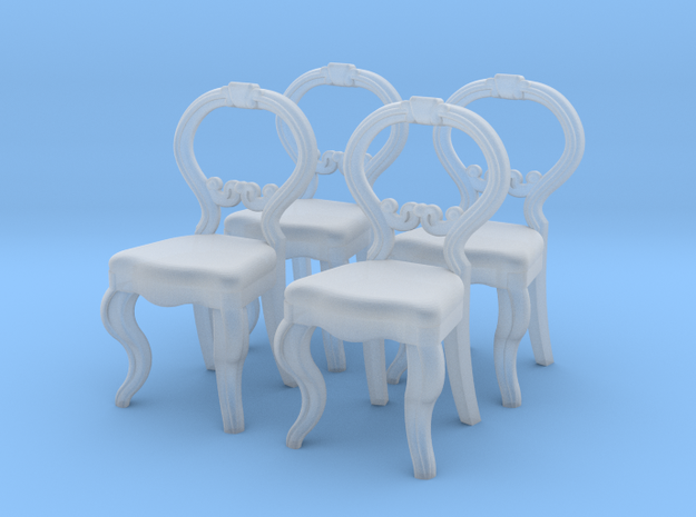 1:48 Nob Hill Balloon Chair in Smooth Fine Detail Plastic
