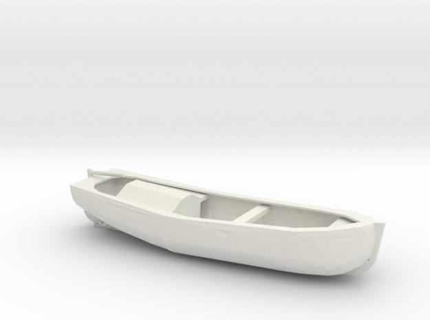 1/96 Scale 27 ft Motor Work Boat in White Natural Versatile Plastic