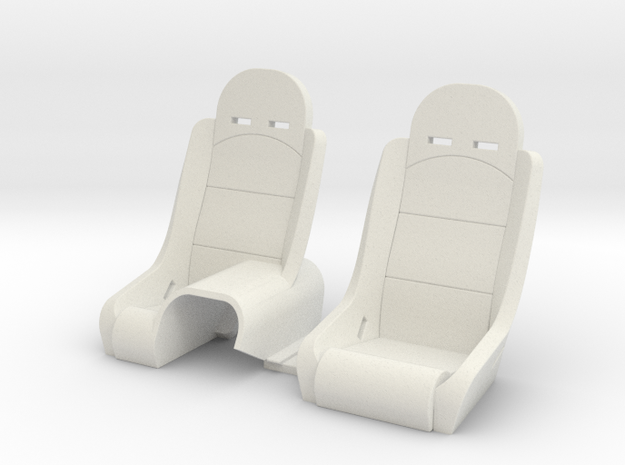 Seats for Micro Shark in White Natural Versatile Plastic