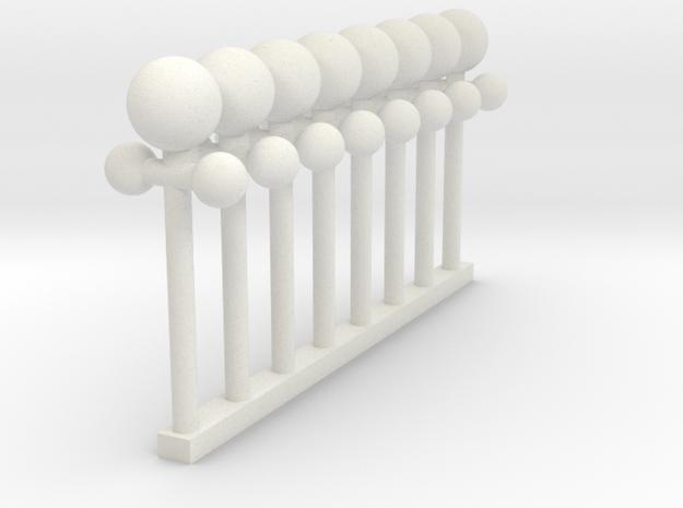 Dellwood 3 arch bridge light posts in White Natural Versatile Plastic