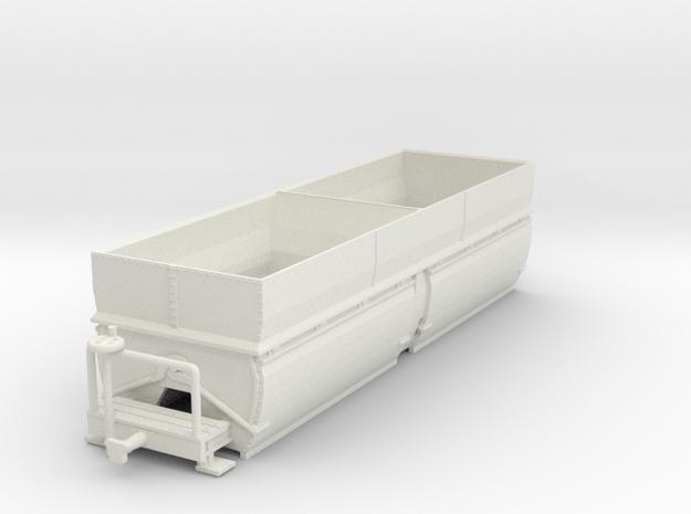 c-100-camargue-bogie-salt-wagon in White Natural Versatile Plastic
