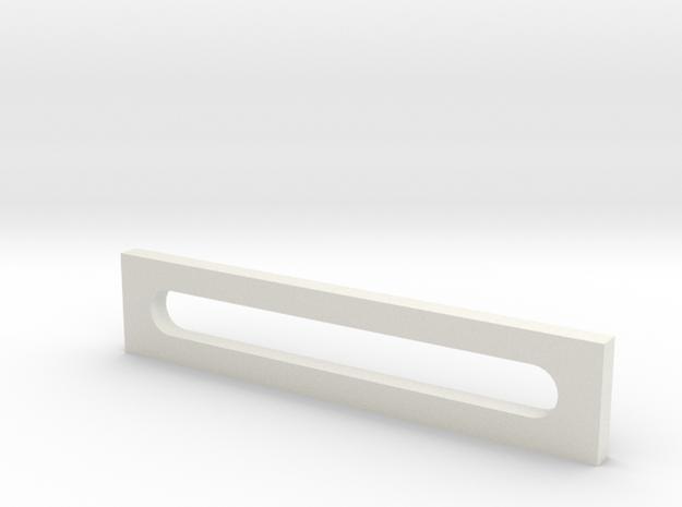 Long Bracket for Mini Mill Table in White Natural Versatile Plastic: Medium