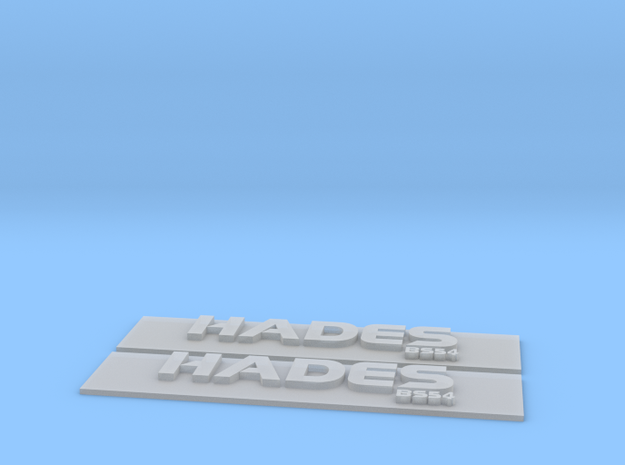 Hades Nameplate Package in Smoothest Fine Detail Plastic