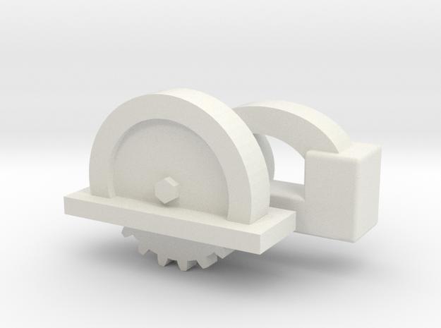 1:12 Scale Circular Saw in White Natural Versatile Plastic: 1:10