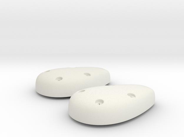 EC135 GPS Tail Antenna (x2) 1/4 in White Natural Versatile Plastic