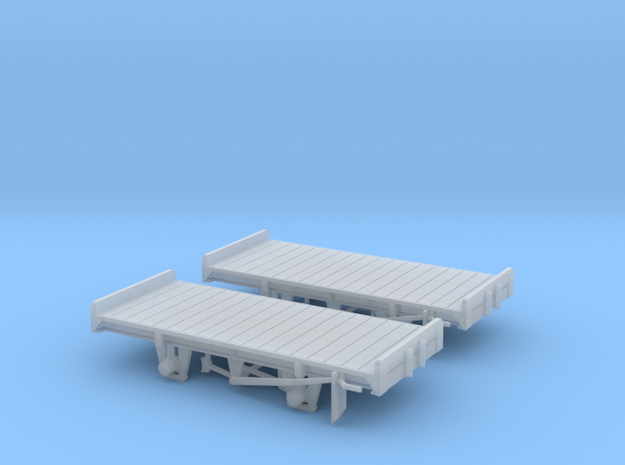 RNAD 4 Wheel Flat - 2 Pack in Smooth Fine Detail Plastic
