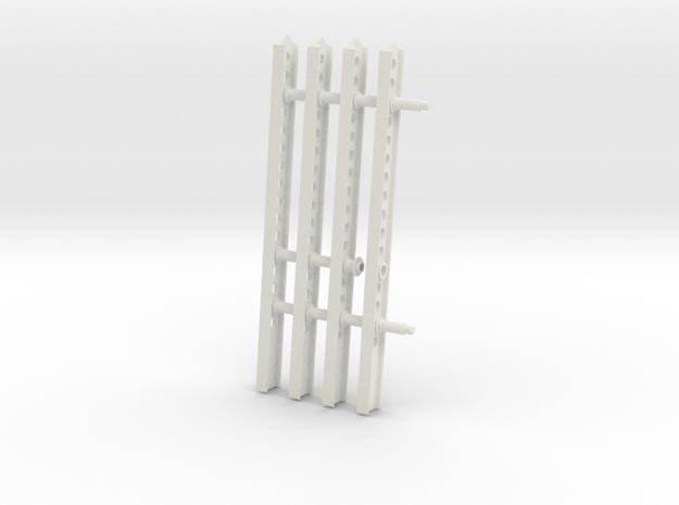 24-M-8 Katyusha Launcher Right Rails Scale 1:35 in White Natural Versatile Plastic