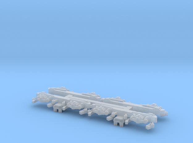 TU4 and TU5 Tomytec boggie coulisses in Smooth Fine Detail Plastic