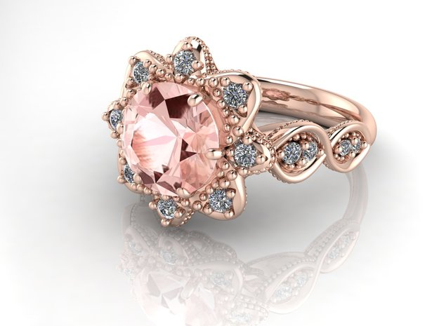 Grace vintage 2 NO STONES SUPPLIED in 14k Rose Gold
