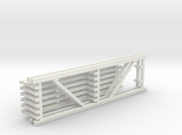 42X144 & 120 Beam Kit 1-87 HO Scale in White Natural Versatile Plastic