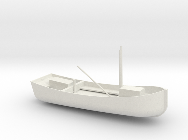 1/96 Scale 38 ft Buoy Boat in White Natural Versatile Plastic