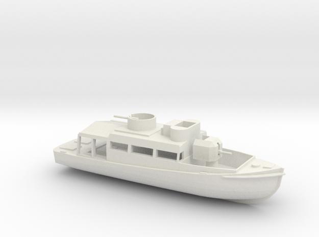 1/96 Scale Patrol Boat in White Natural Versatile Plastic