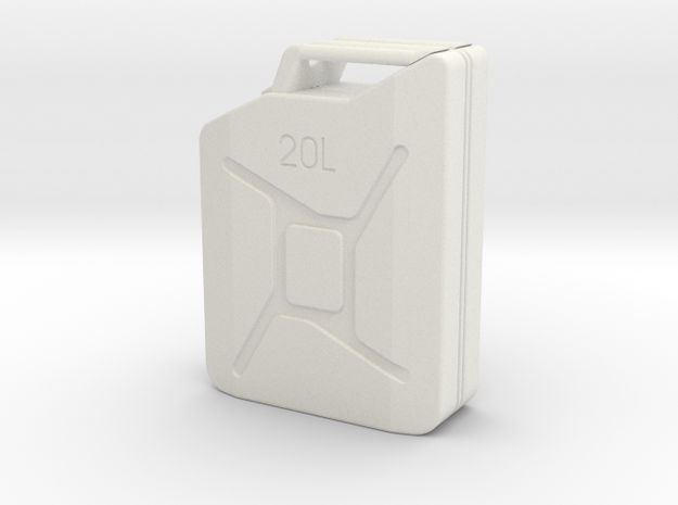 Jerry can body 1 to 12  in White Natural Versatile Plastic