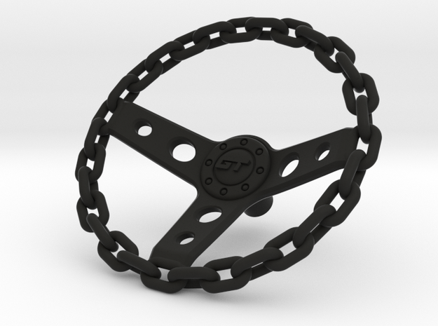 Chain Steering Wheel 1\10 in Black Natural Versatile Plastic: 1:10