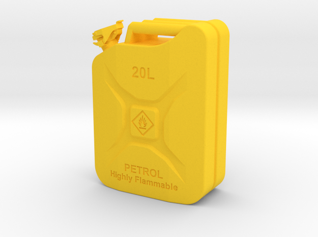 Jerry Can Petrol HD 1:10 in Yellow Processed Versatile Plastic: 1:10
