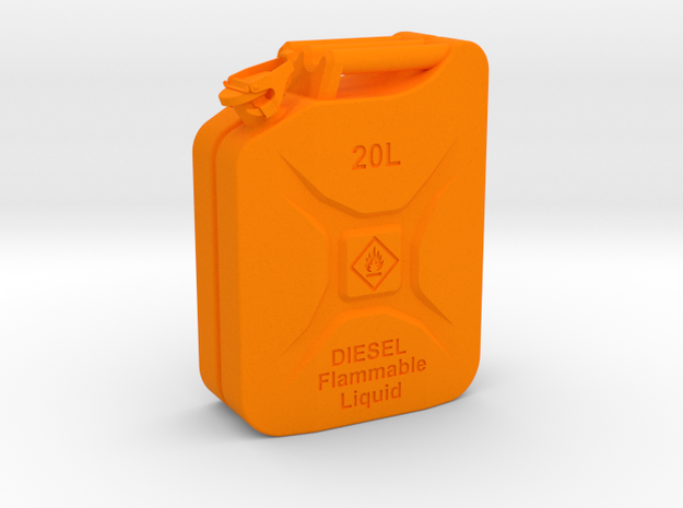 Jerry Can Diesel HD 1\10 in Orange Processed Versatile Plastic: 1:10