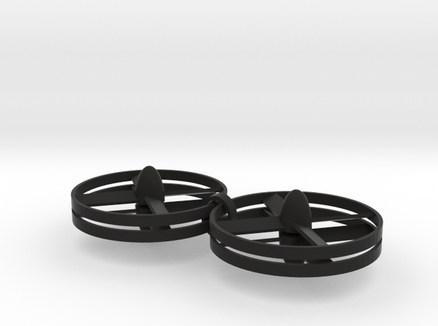 Rotor Force Blades in Black Natural Versatile Plastic