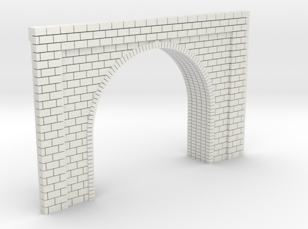 N Scale Tunnel Entrance Single Track 1:160 in White Natural Versatile Plastic