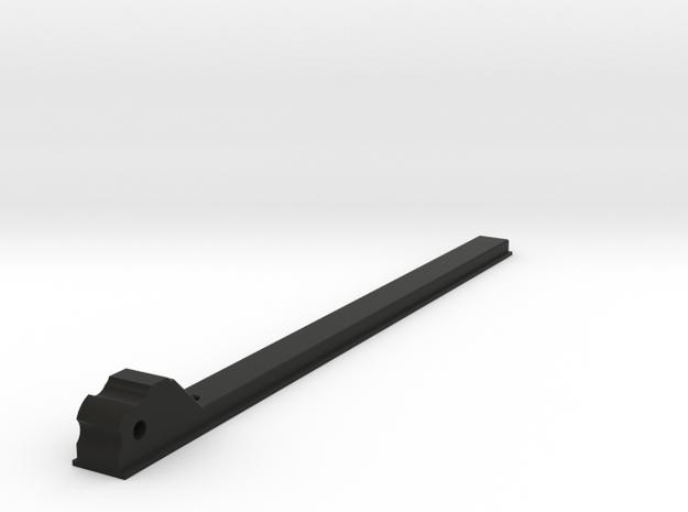 King Arms SLR (FAL) folding charging handle slide in Black Natural Versatile Plastic