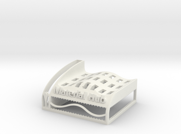 The Wave Hub - Material Sample Stand in White Natural Versatile Plastic