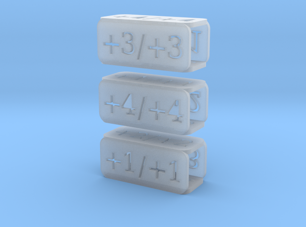 Counters for Magic MTG x3 in Smooth Fine Detail Plastic