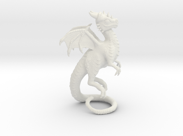 Baby Dragon Whelp in White Natural Versatile Plastic