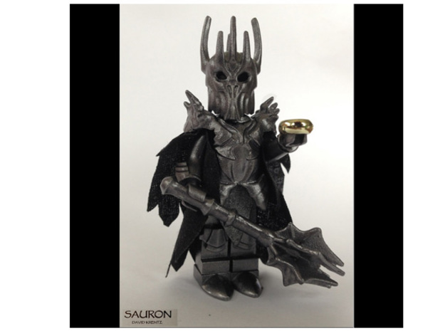 Sauron Lego-Compatable Final in Smoothest Fine Detail Plastic