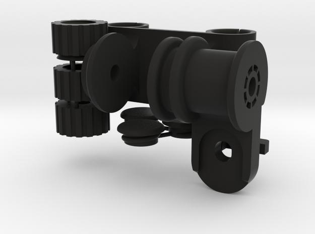 XCS 15mm Bars to 'Universal' Monitor Paddle in Black Natural Versatile Plastic