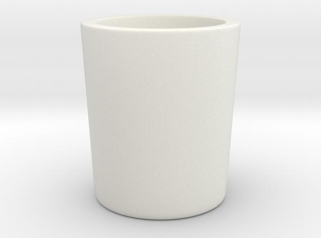 PigNoseMug in White Natural Versatile Plastic