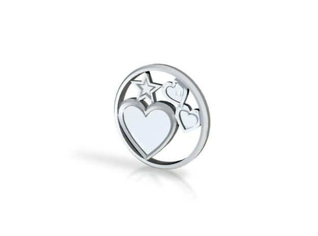 Hearts&Stars Pendant 3d printed