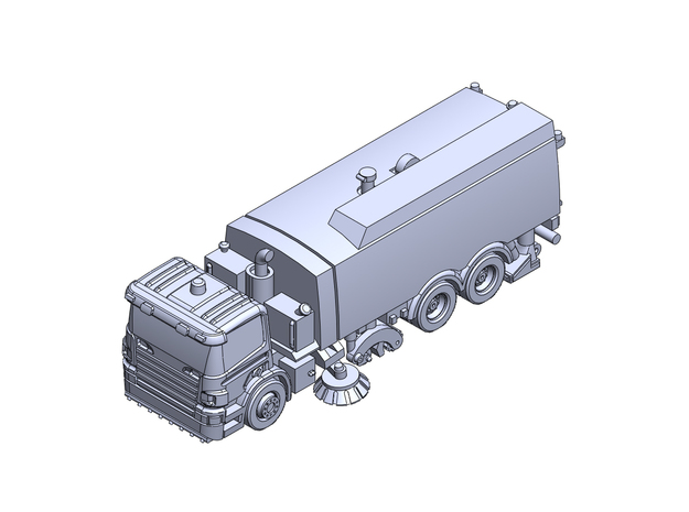 BeamA14000 runway sweeper in Smoothest Fine Detail Plastic: 1:200